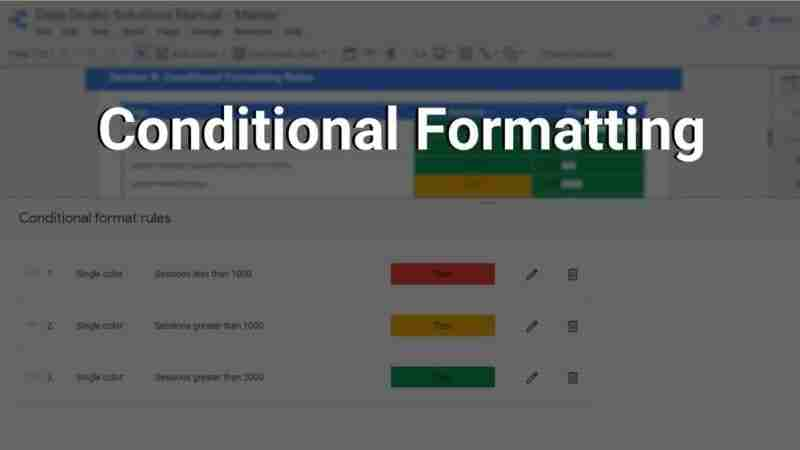 conditional formatting rules setup