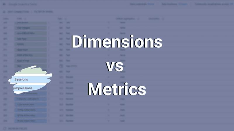 dimensions vs metrics
