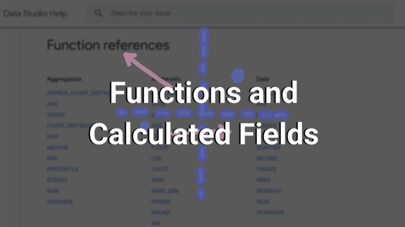 functions and calculated fields